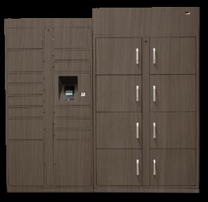 wood grain lockers